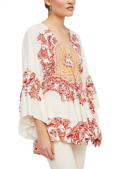 Free People Sunset dreams printed tunic sand