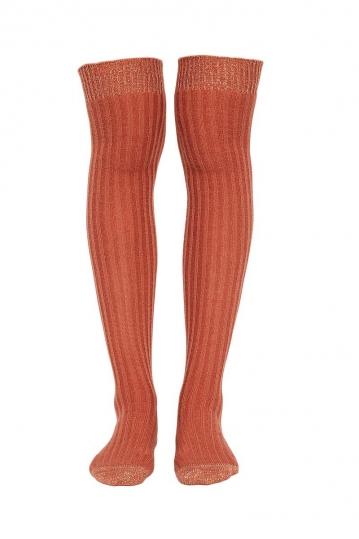 Free People Wildest tall socks terracota