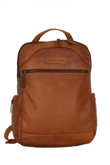 Hill Burry ανδρικό δερμάτινο backpack καφέ - vb100176
