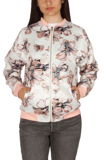 Rut & Circle Li bomber jacket floral cream