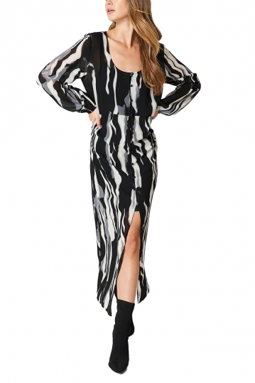 Rut & Circle Jenna monochrome long kaftan