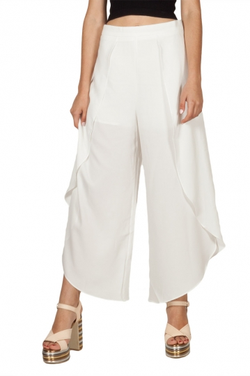 Ryujee Anny wrap side slit culotte white