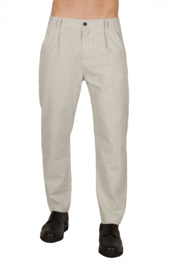 Anerkjendt Gibbi cotton-linen blend men's pants light grey