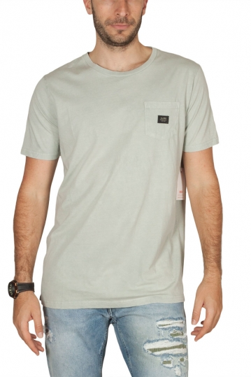 Globe men's Goodstock snow t-shirt stone washed bone
