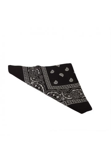 Vintage print bandana black