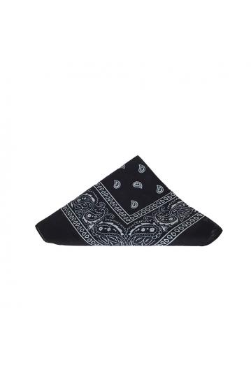 Vintage print navy bandana