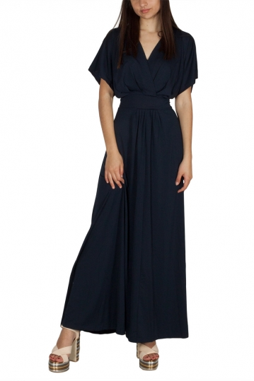 Rut & Circle Vivian long dress dark navy