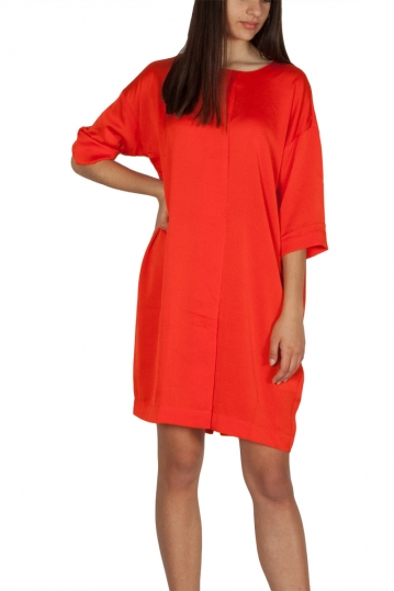 Rut & Circle crepe dress orange