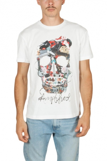 Amplified Plectrum skull t-shirt white