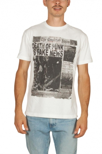 Amplified Punk Newspaper t-shirt white noise