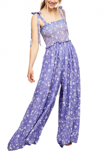 Free People Color my world jumpsuit lilac