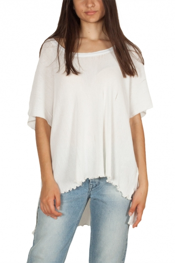 Lotus Eaters Amman oversize asymmetric top white