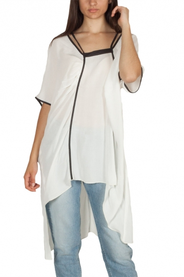 Lotus Eaters Brest asymmetric tunic white