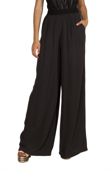 Lotus Eaters Tracy palazzo trousers dark grey