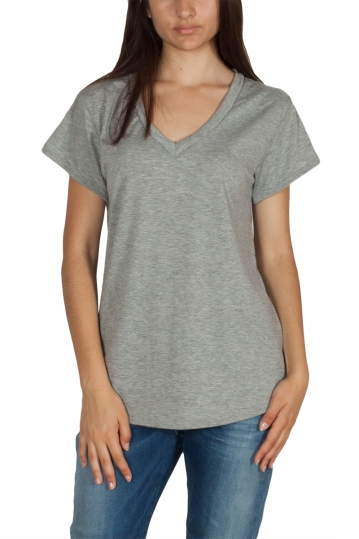 Rut & Circle Alina V-neck t-shirt grey melange