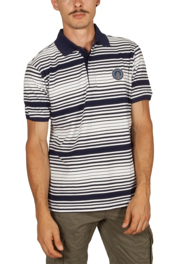 Beneto Maretti polo shirt striped white-blue