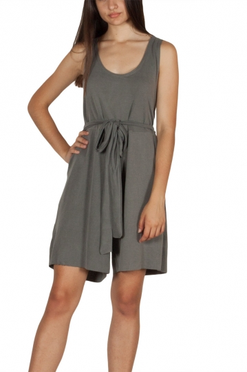 Lotus Eaters Evans open back playsuit grey