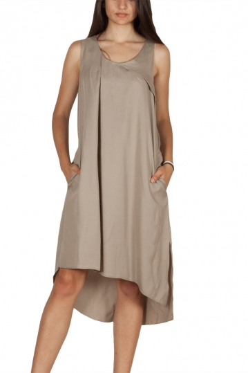 Lotus Eaters Fall River sleeveless dress beige