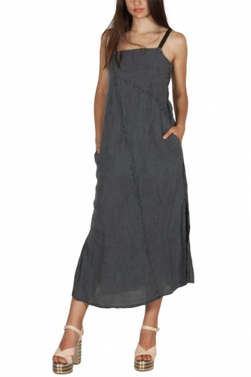 Lotus Eaters Niagara linen dress grey with straps