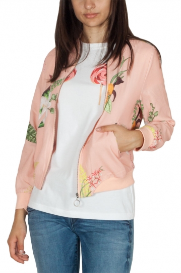 Migle + me cotton bomber floral peach