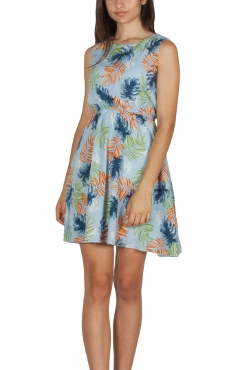 Migle + me sleeveless dress light blue Jungle