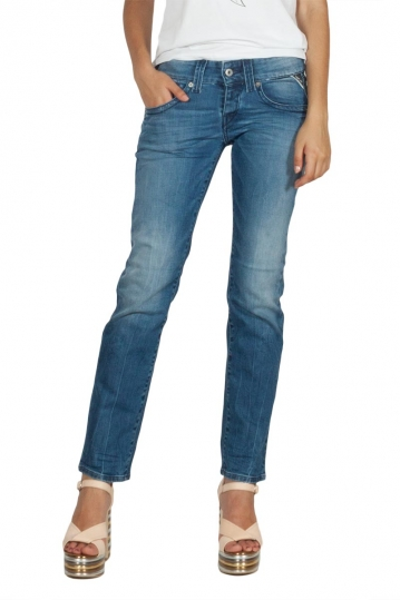 Replay Newswenfani relaxed fit jeans deep blue