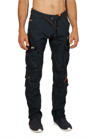 Ritchie multipocket cargo pants navy