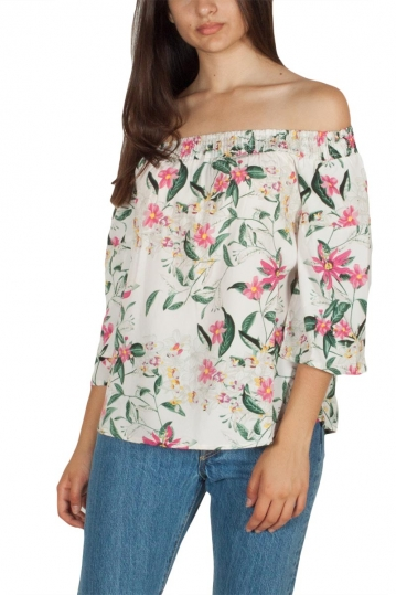 Rut & Circle Flora Singoalla top floral white