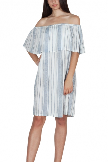 Rut & Circle Singoalla stripe dress white-blue