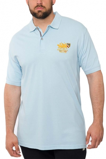 Men's polo shirt light blue Insane plus
