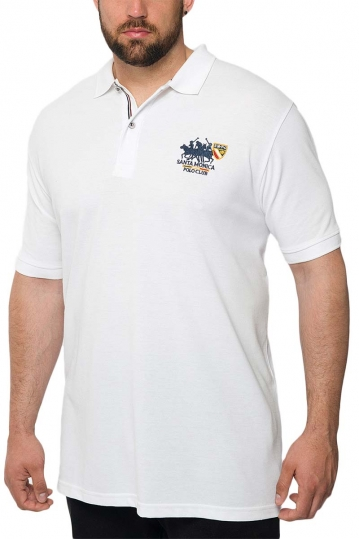 Men's polo shirt white Insane plus