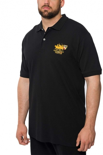 Men's polo shirt black Insane plus