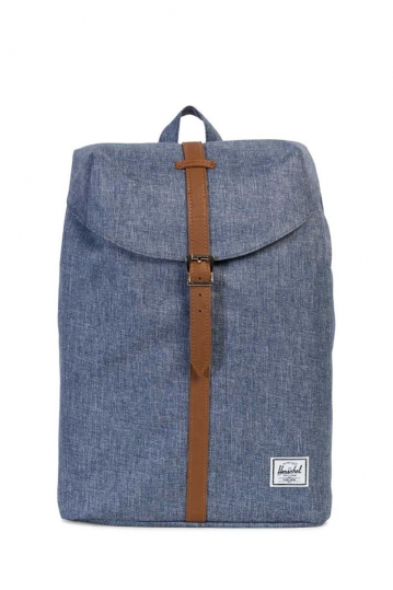 Herschel Supply Co. Post mid volume backpack dark chambray crosshatch/tan
