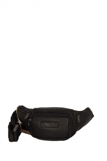 Hill Burry leather hip pack black
