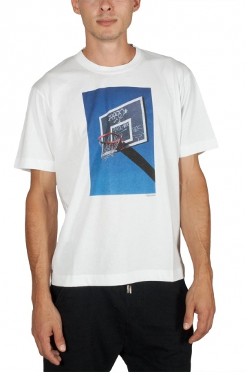 Minimum Asker t-shirt white with basketball net print