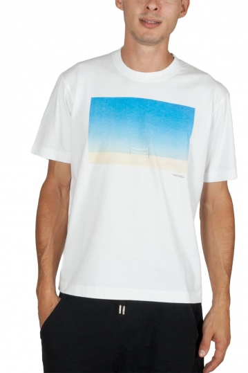 Minimum Asker t-shirt white with beach volley net print