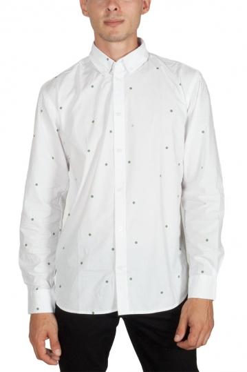 Minimum Walther men's polka dot printed shirt white