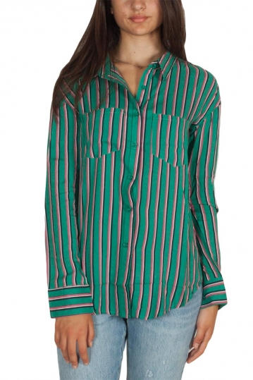 Daisy Street striped shirt green