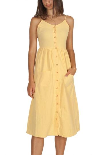 Daisy Street τιραντέ φόρεμα με κουμπιά κίτρινο