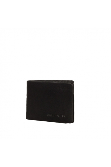 Hill Burry men's leather RFID wallet black - 6708