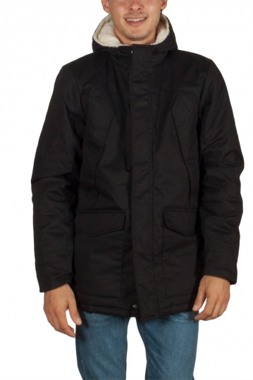 Anerkjendt Anders lined cotton parka black