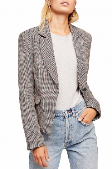 Free People Chess tweed blazer