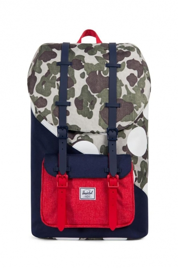 Herschel Supply Co. Little America Kaleidoscope backpack camo/barbados cherry/polka dot