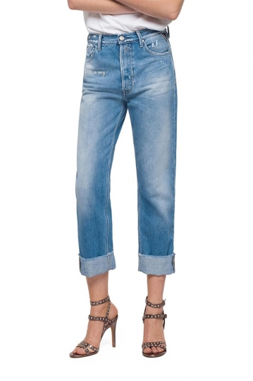 Replay Whitson cropped slim fit jeans blue