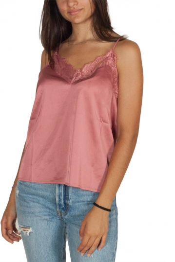 Rut & Circle Cherry strappy lace top old rose