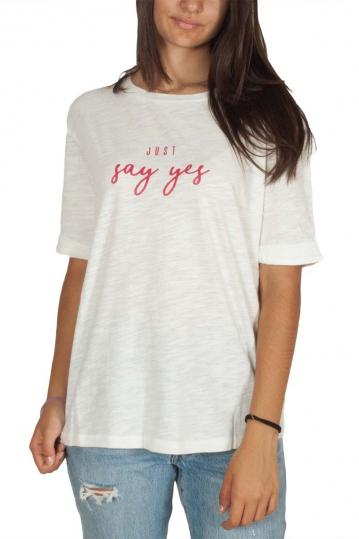 Soft Rebels July γυναικείο slub t-shirt λευκό