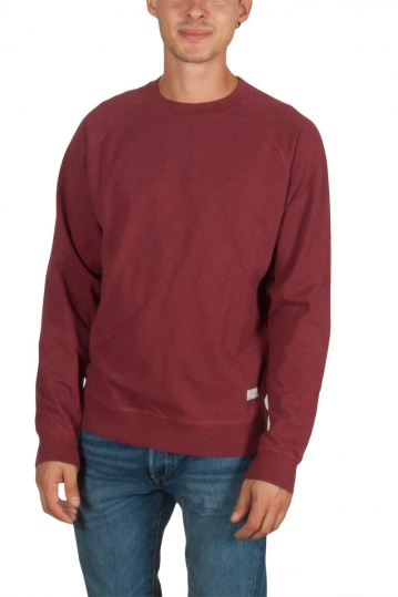 Thinking Mu men's basic sweatshirt red melange
