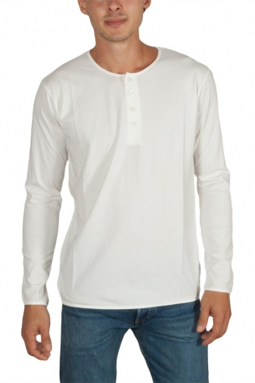 Thinking Mu Baker men's long sleeve tee white