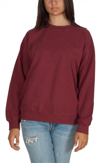 Thinking Mu women's sweatshirt deep red melange