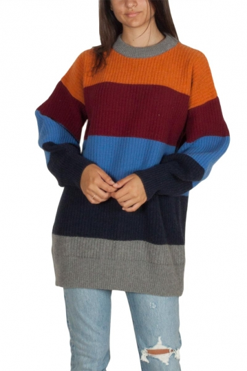 Thinking Mu Cabernet oversized merino wool jumper